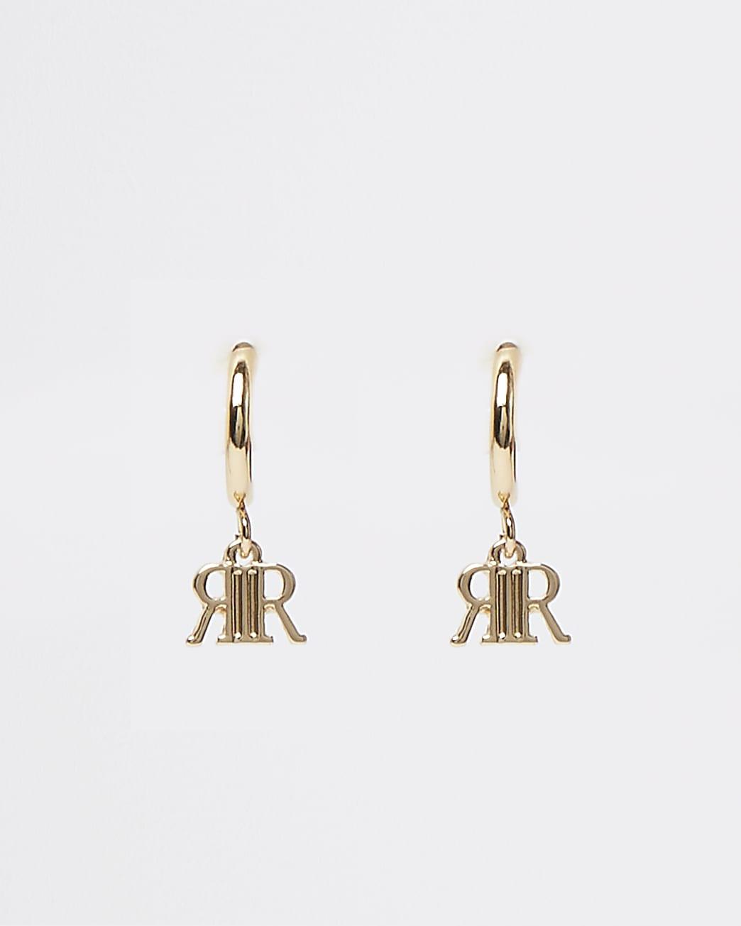 Metal RI hoop earrings