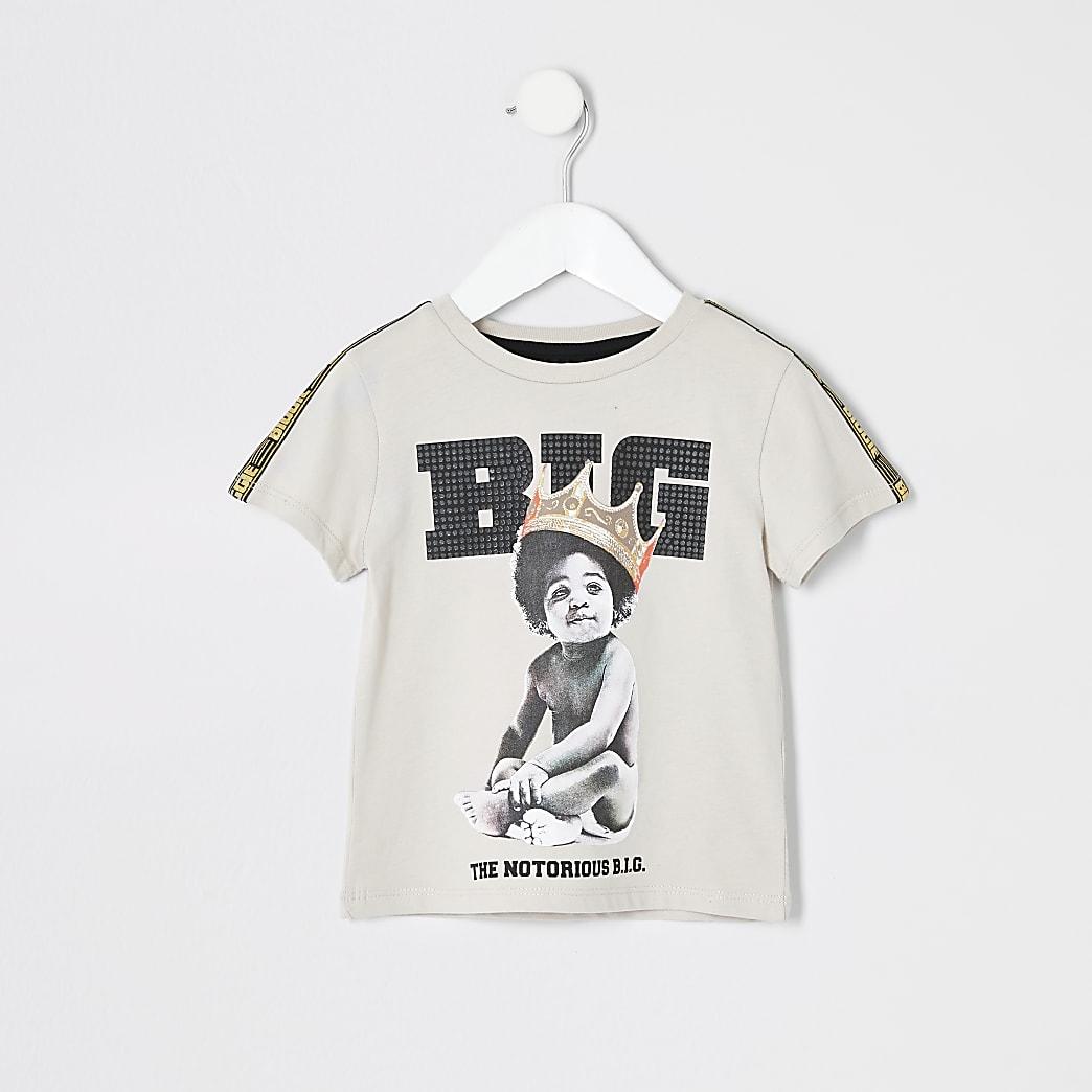 T-shirt Biggie Smalls beige mini garçon
