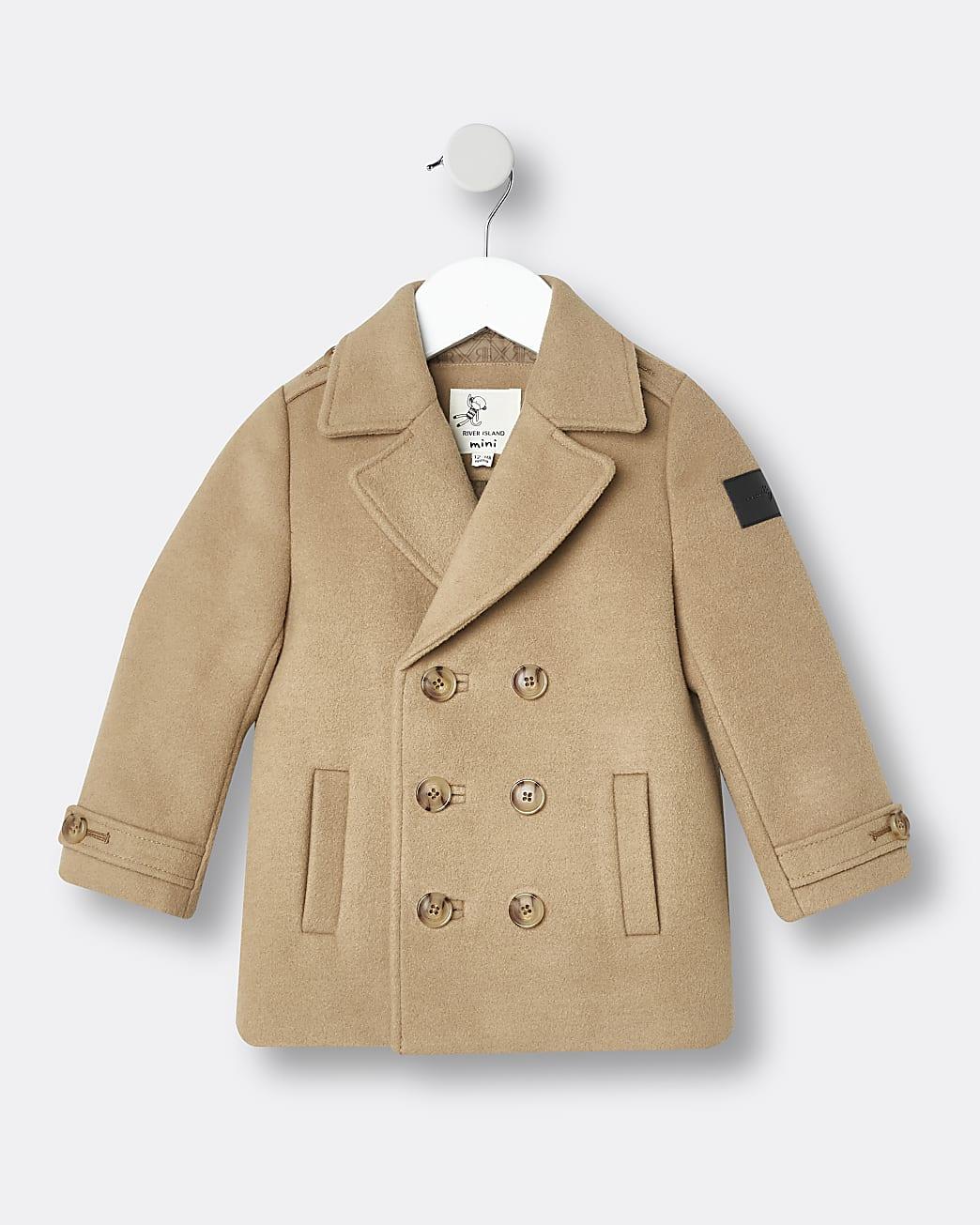 Mini boys beige Maison Riviera coat