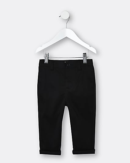 Mini boys black chino trousers