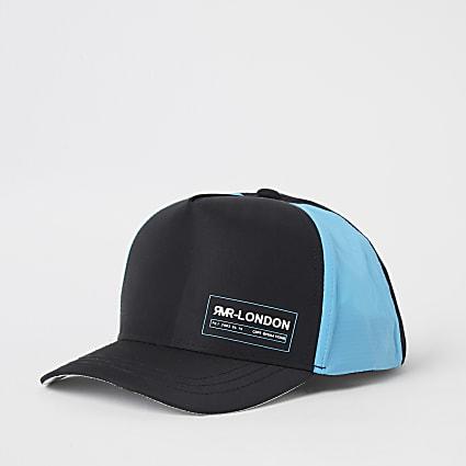 Mini boys black colour blocked cap