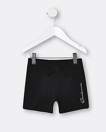 Mini boys black 'Exclusive' shorts