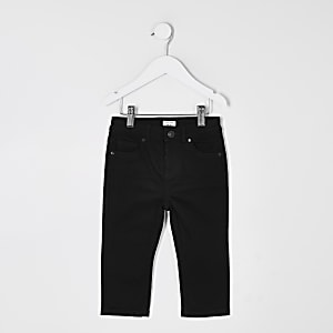Mini - Jake - Zwarte regular fit jeans voor jongens
