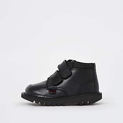 Mini boys black Kickers leather shoes