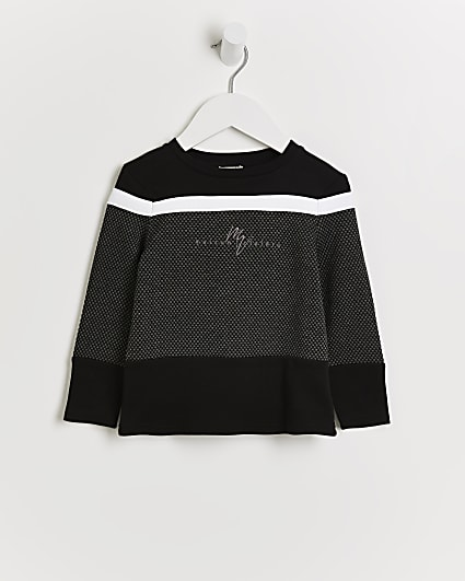 Mini boys black Maison Riviera jumper
