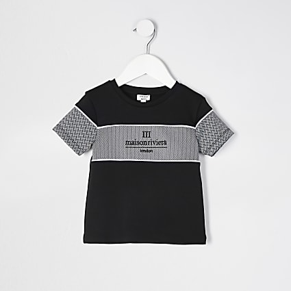 Mini boys Black Maison Riviera t-shirt