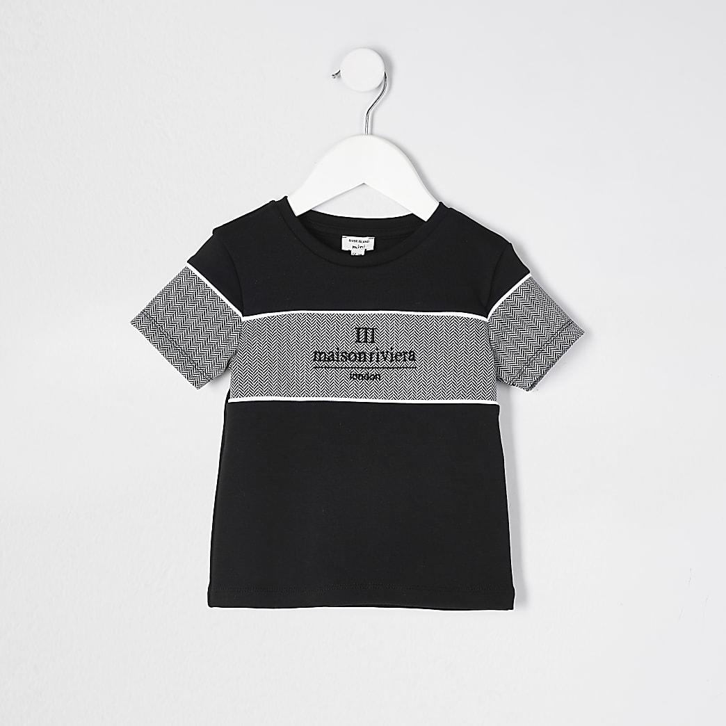 Mini boys Black Maison Riviera t-shirt