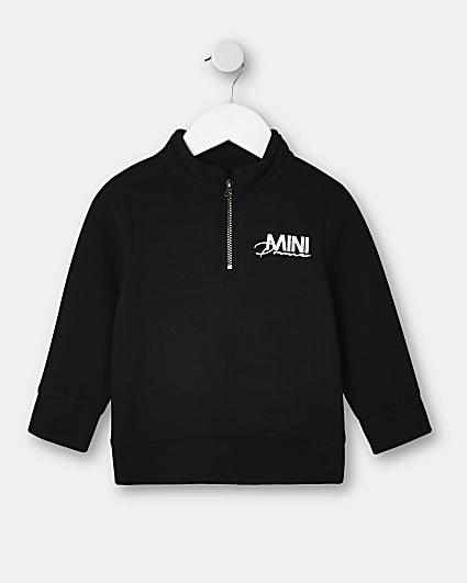 Mini boys black 'Mini Prince' sweatshirt