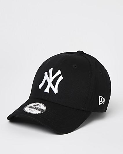 Mini boys black New Era NY cap