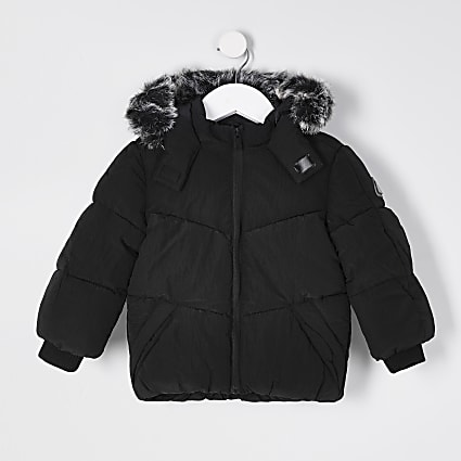 Mini boys black padded jacket