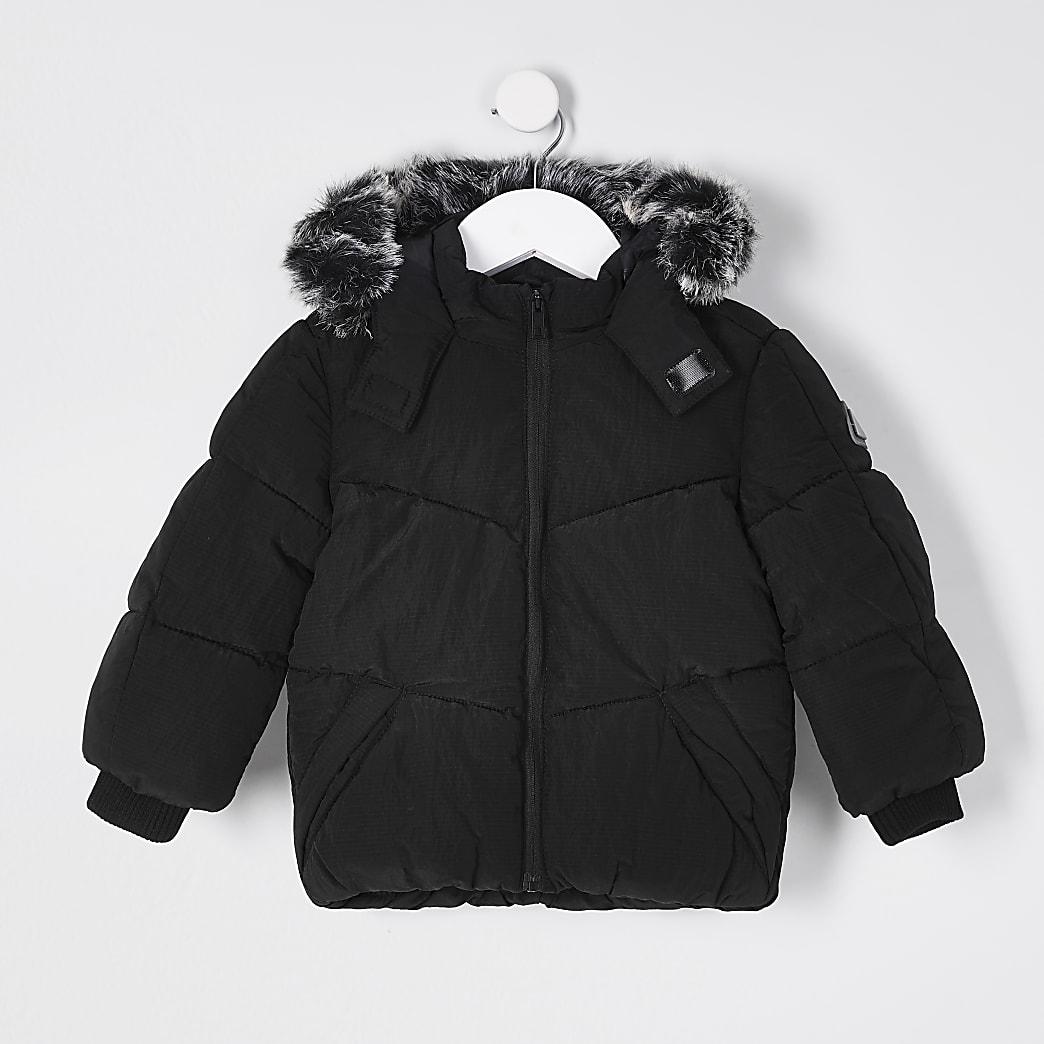 Mini boys black padded jacket