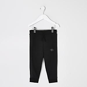 Mini – Maison Riviera– Schwarze Pikee-Jogginghose für Jungen