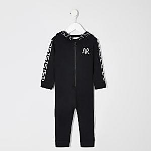 Mini boys black printed RI onsie