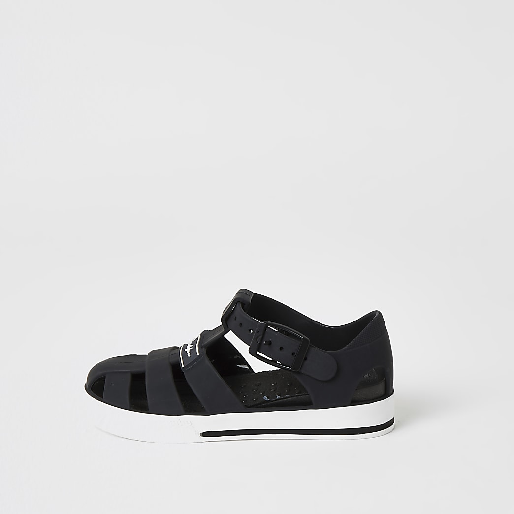 Mini boys black Prolific caged jelly sandals