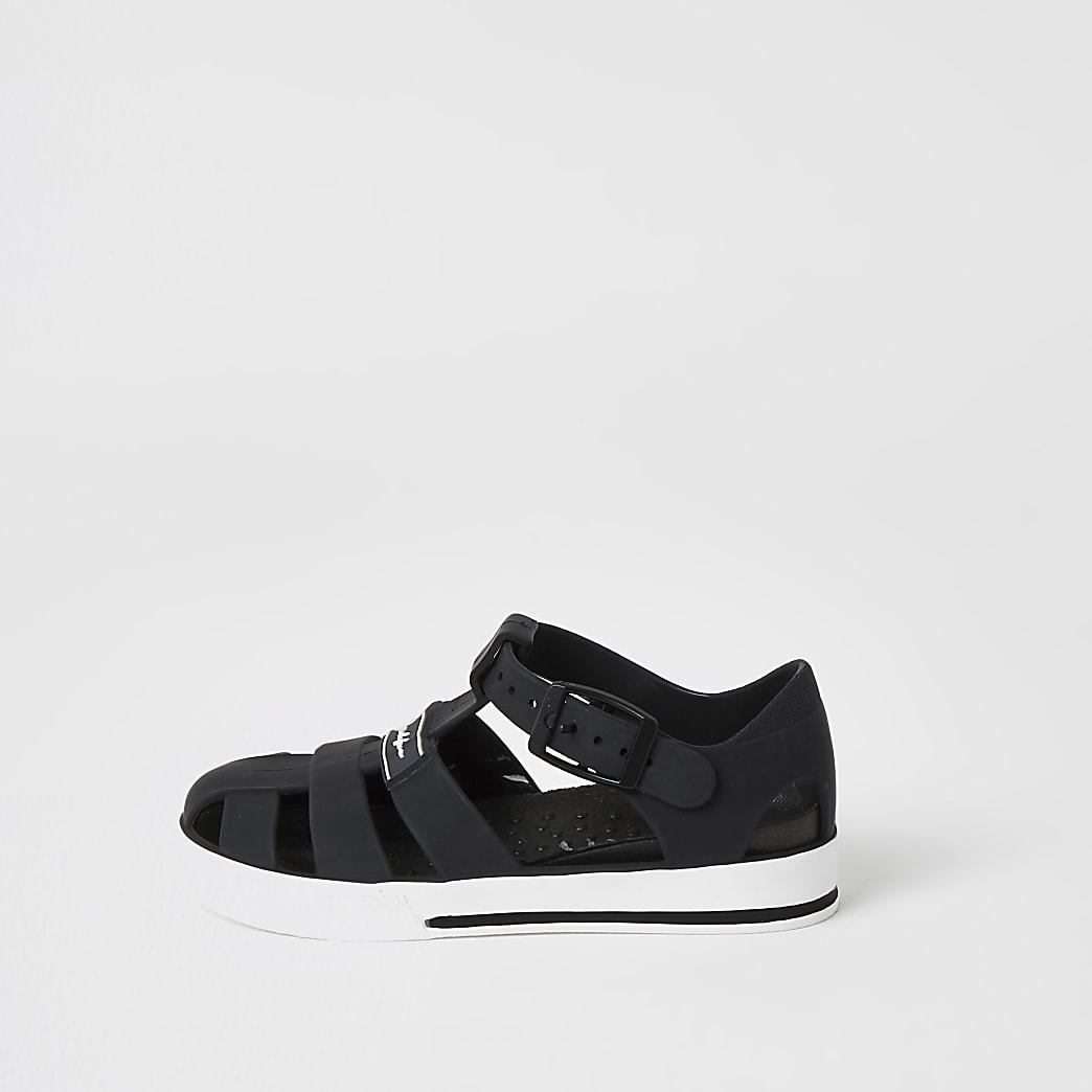 Mini - Prolific - Zwarte jelly sandalen voor jongens