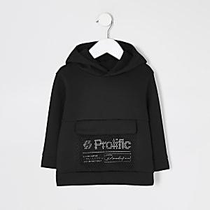 Mini - Prolific - Zwarte mesh hoodie voor jongens