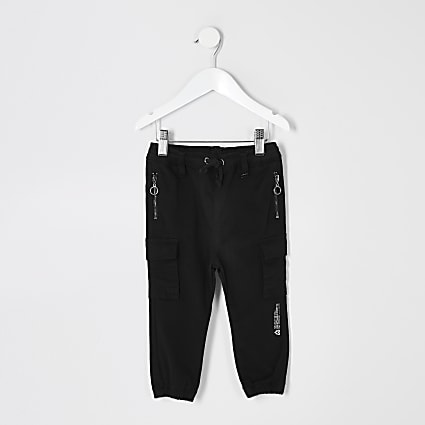 Mini boys black Prolific utility joggers