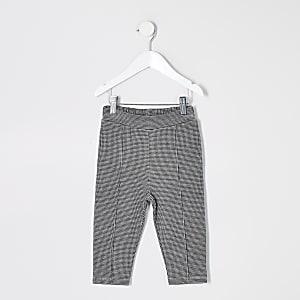 Mini – Schwarz karierte Bundfaltenhose für Jungen