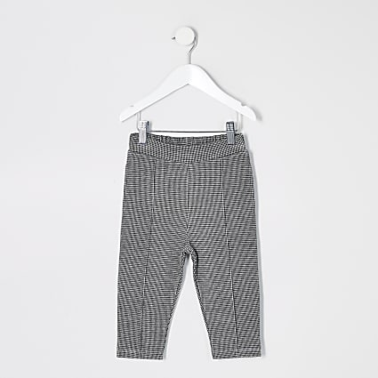 Mini boys black puptooth check trousers