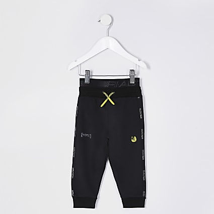 Mini boys black RI Active joggers
