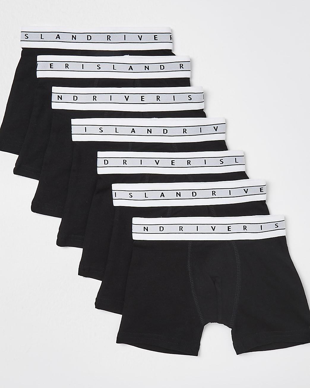 Mini boys black RI boxers 7 pack