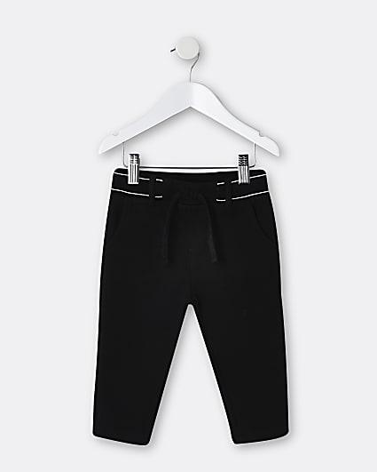 Mini boys black RI branded trousers