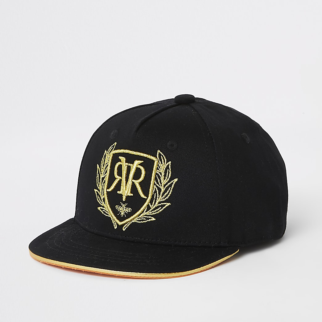 Mini boys black RI embroidered cap