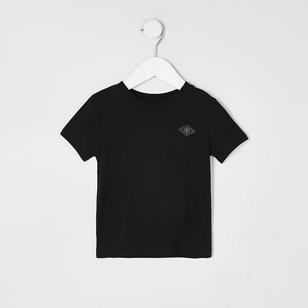 Mini boys black RIR badge T-shirt