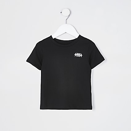 Mini boys black RIR t-shirt