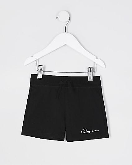 Mini boys black 'River' shorts
