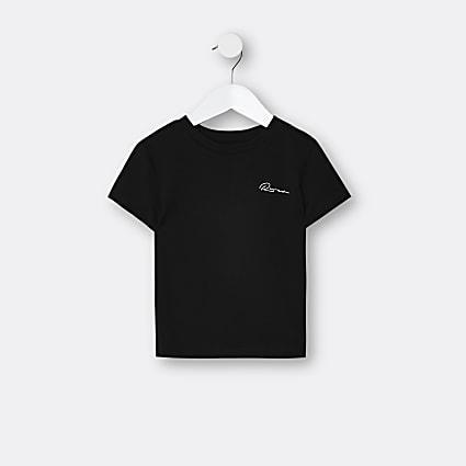 Mini boys black River t-shirt