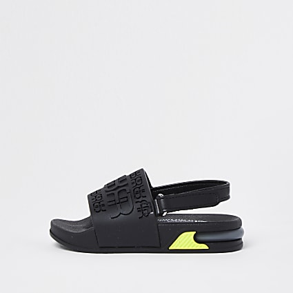 Mini boys black RR bubble sole sliders