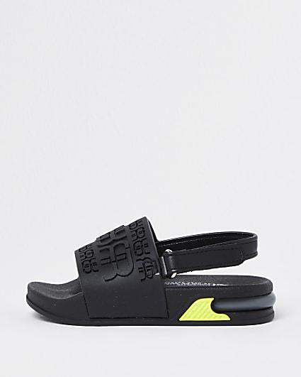 Mini boys black RR bubble sole sliders