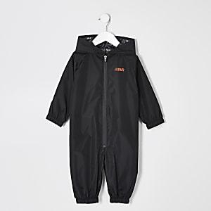 Mini boys black RVR puddlesuit