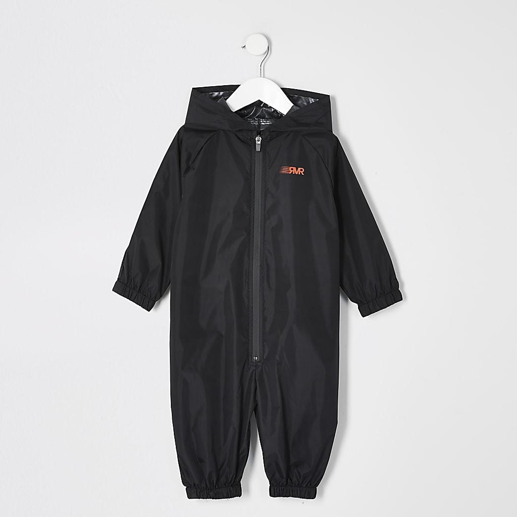 Mini - Zwart regenpak met RVR-print voor jongens