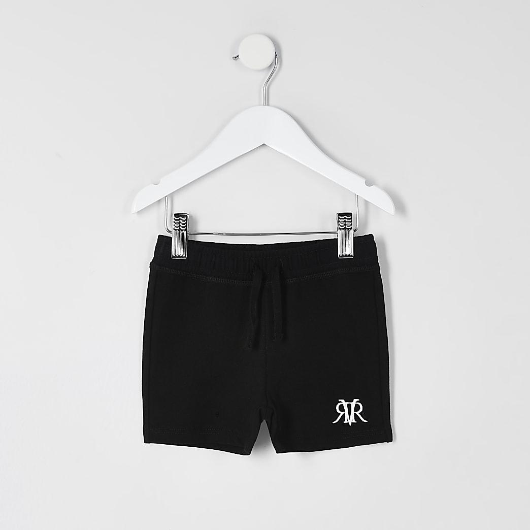 Mini boys black RVR shorts