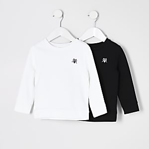 Mini boys black RVR sweatshirt 2 pack
