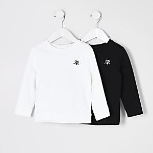 Mini – Schwarzes RVR-Sweatshirt im 2er-Pack
