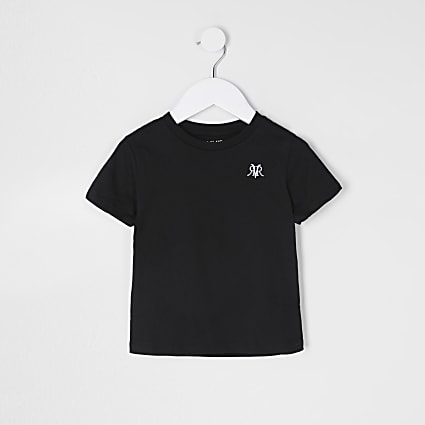 Mini boys black RVR t-shirt