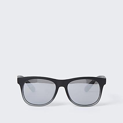 Mini boys black silver lens sunglasses