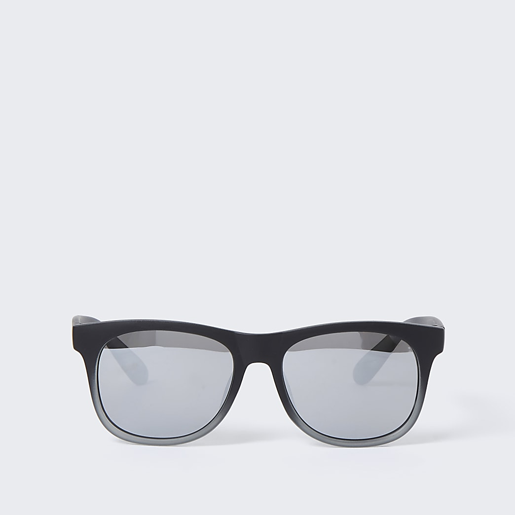 Mini boys black silver lens sunglasses
