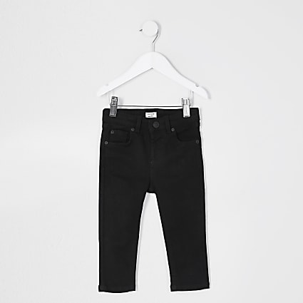 Mini boys black skinny fit jeans