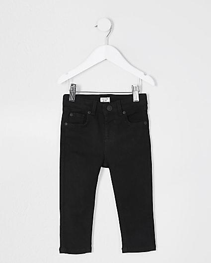 Mini boys black skinny fit jeans