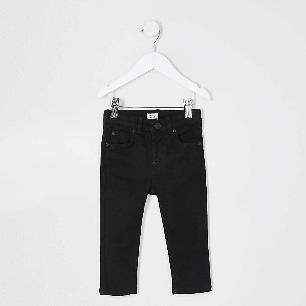 Mini boys black skinny fit Sid jeans