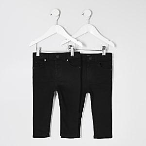 Mini - Set van 2 zwarte skinny jeans voor jongens
