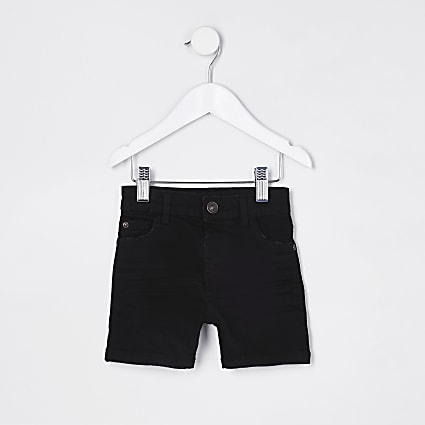 Mini boys black skinny short