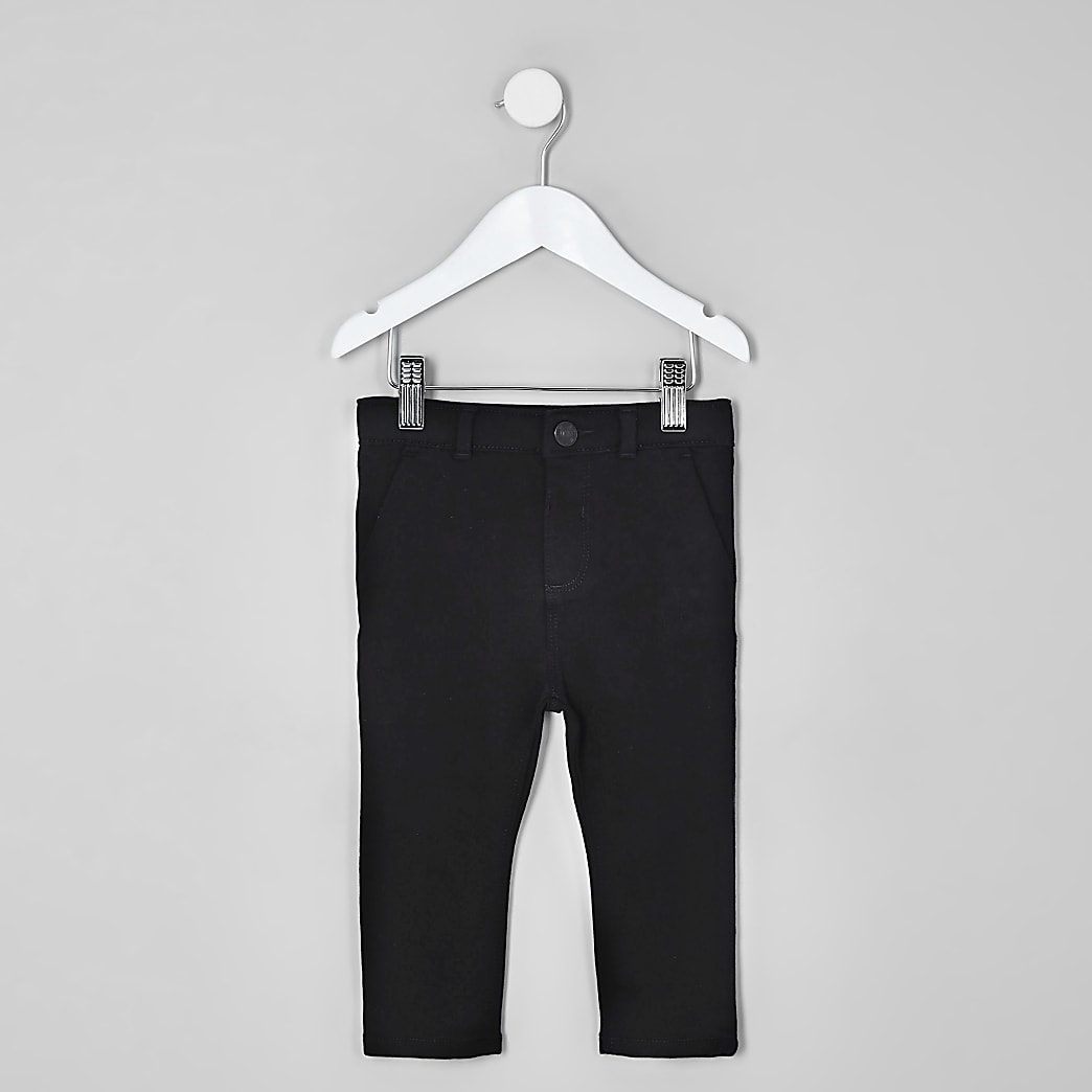Mini boys black stretch skinny trousers