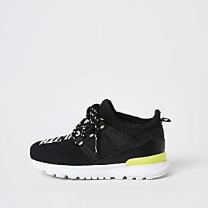 Mini - SVNTH - Zwarte mesh sneakers voor jongens
