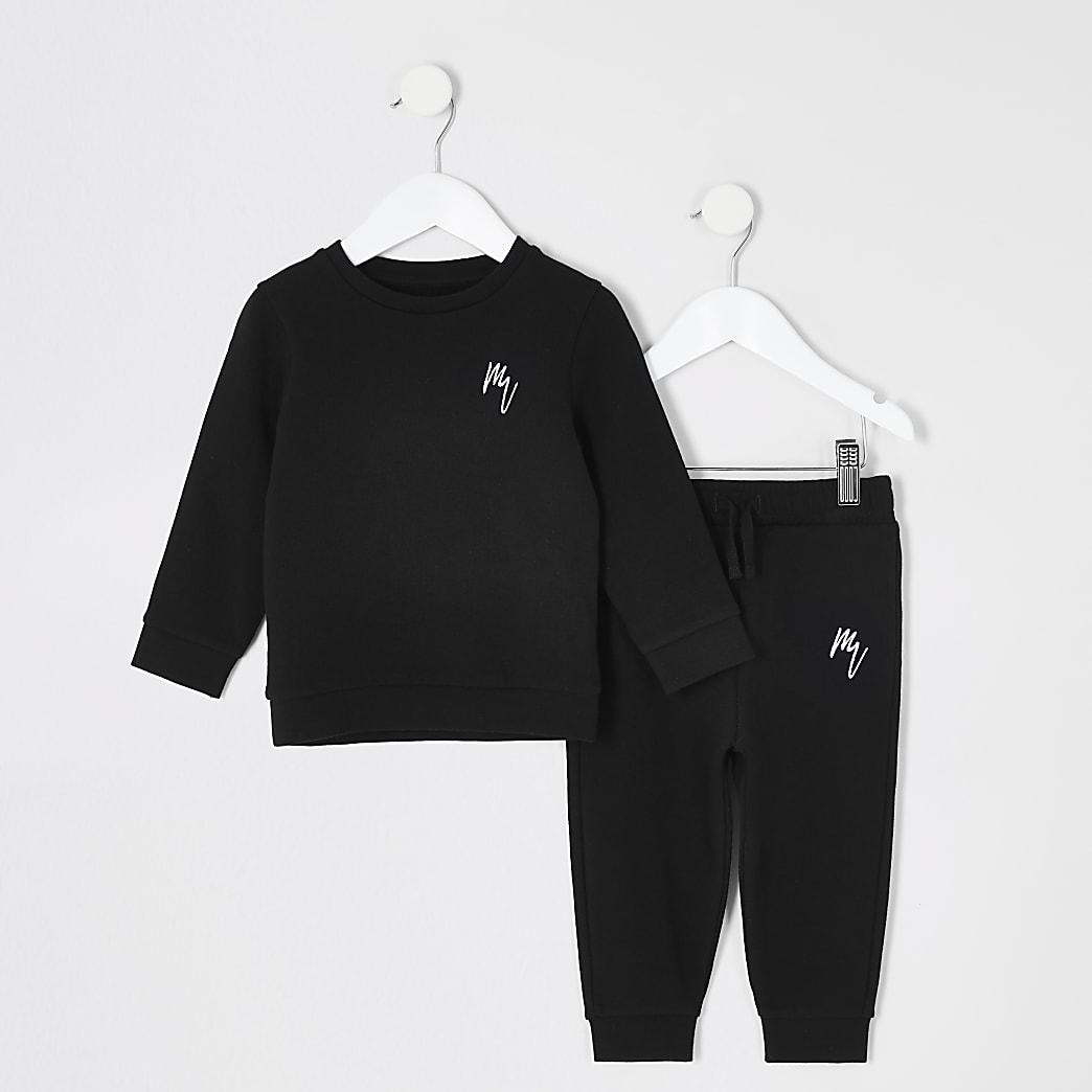 Mini -Zwarte outfit metsweater voor jongens