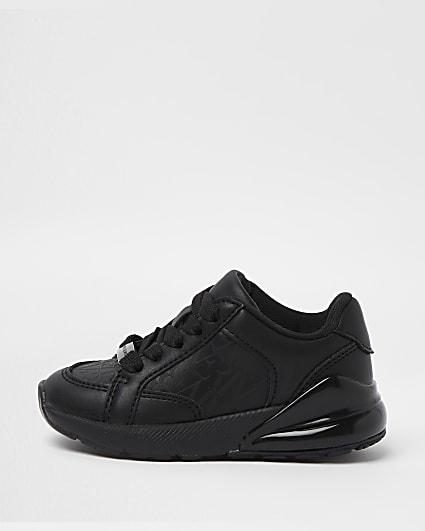 Mini boys black trainers